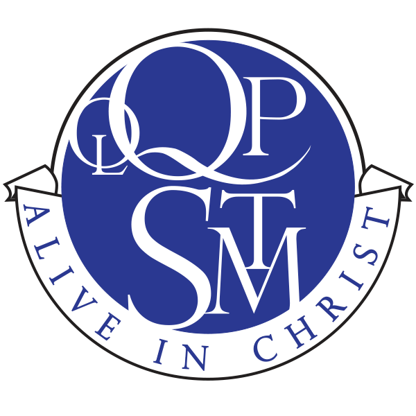 Our Lady Queen of Peace and St. Thomas More monogram